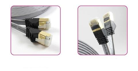 Cat 7 High Speed Network Flat Cable-Silver-1.5M