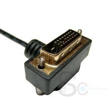DVI 24+1 90 Deg to Open Cable Black