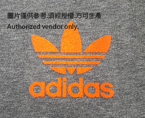 4 Colors Adidas Flocking Heat Transfer Label