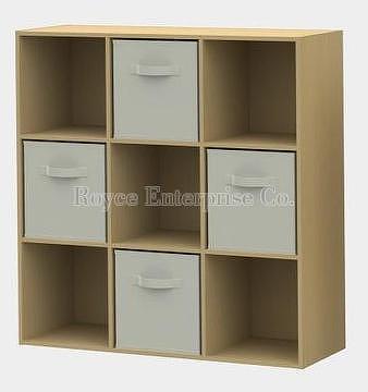 9 Cube Storage With 4 Non Woven Drawers Royce Enterprise Co Ltd