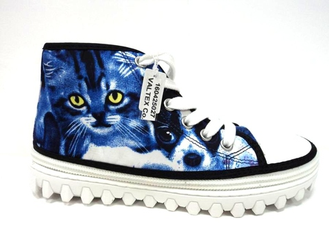 Convertible Kids Shoes - Cat high top