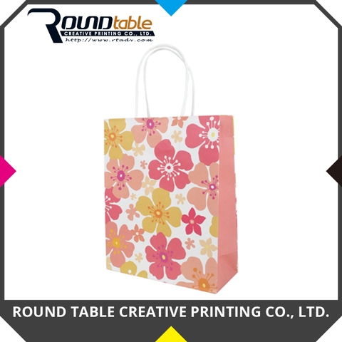 Taiwan Paper Bag Customized Design Printed Colorful Shopping