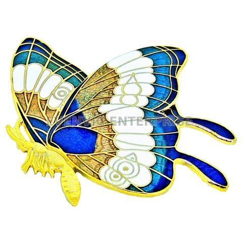Taiwan Cloisonne Butterfly Brooch, OEM Enamel Brooch Manufacturer