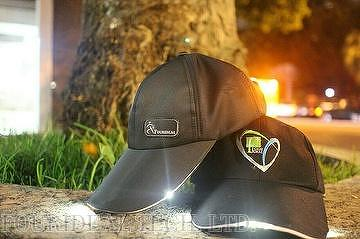 LED Sports Cap with LED flashlight