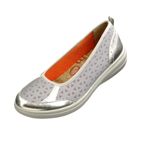 KimoShoes, flat, causal, footwear, woman, silver shoes