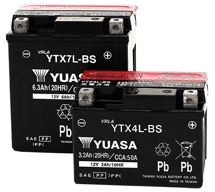 YUASA YTX Series Motorcycle Batteries