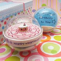 Acrylic sand timer cake poly party return gifts for birthday