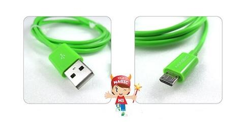 USB 2.0 A to Micro USB Slim Cable-Green-1.5M