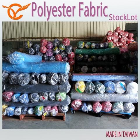 Taiwan 100 Polyester Stripe Printed Mesh Fabric Stock Lot