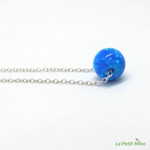 Planet Pendant Silver Clavicle Necklace Platinum-Clad