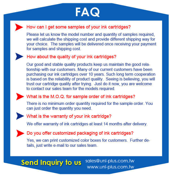 ink cartridge-FAQ