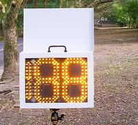 "Winning Flair 10"" digit power saving speed sign, portable"