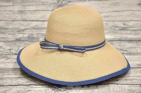 【紙在乎你Natural Club】現代簡約淑女帽 #J40 渡假藍 可水洗 防曬 紙線編織帽