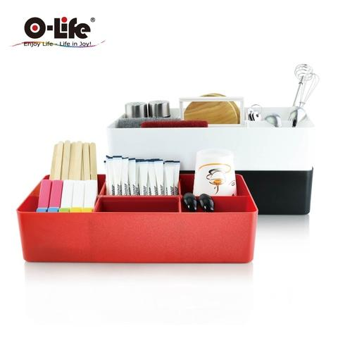 Desktop Stackable Caddy Box Movable Partition【O-Life】S-320