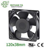 High Volume Small Tube Vane AC Axial Fans 120x120x38