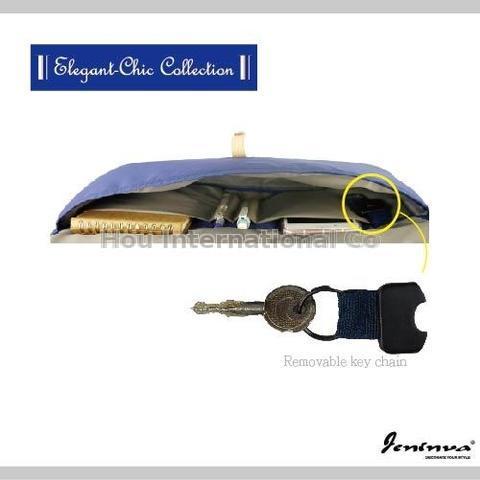 JENINVA Bicycle Front Rack & Shoulder Bag - Steel Blue