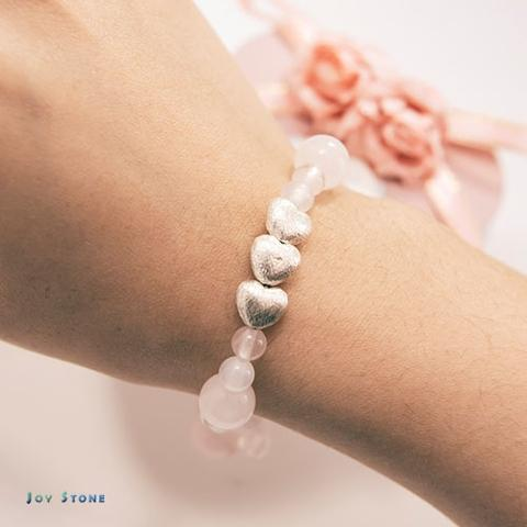 In Love Bracelet Rose Quartz White Agate