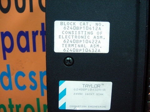 COMBUSTION ENGINEERING TAYLOR MOD SYSTEM BLOCK CAT 6240BP10412A Electr. 6240BP10422A Term. 6240BP10432A