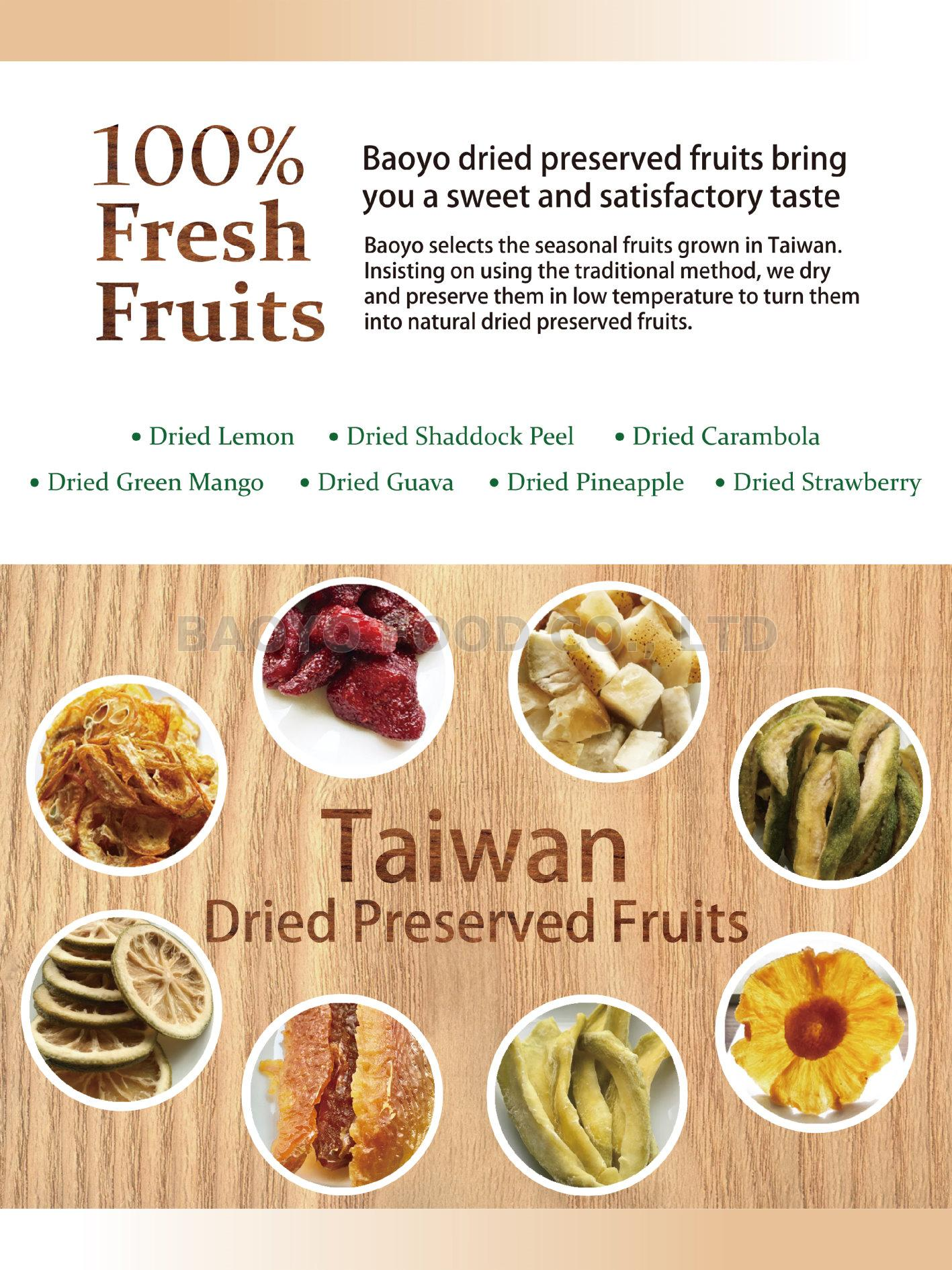 Taiwan Baoyo Dried Preserved Fruits | Taiwantrade