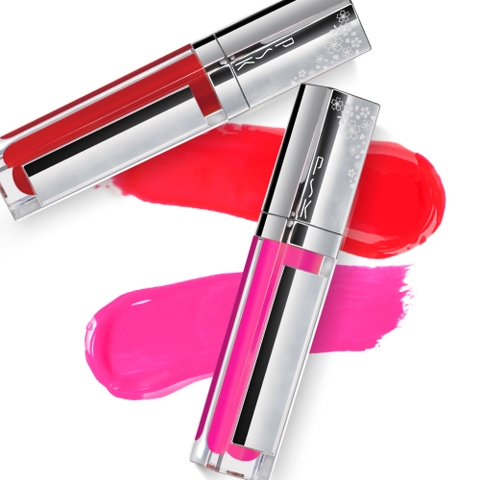 Taiwan PSK Make Up Glitter Bloss Shining Lipstick with LED and Mirror
