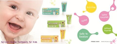 INTELLIGENT Kid Toothpaste Toothpaste for Baby and Toddler Special Formula for Safe Swallowing