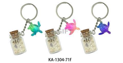 Sand Bottle Keychain (with Sea Turtle)