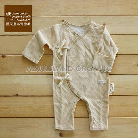 100 % Organic Colored Cotton baby Kimono Romper Long Sleeves