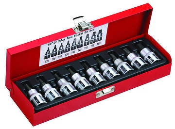 "9-pc 1/2"" Dr. Hexagon Bit Socket Set"