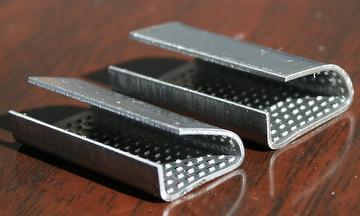 Matt/Galvanized serrated metal seals clips for PET strap use
