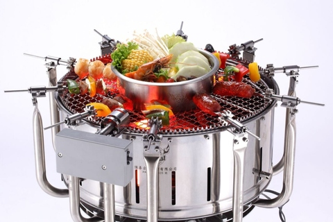 Uncle Roast Charcoal Automatic Grill