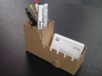 Castle-type pen holder(..
