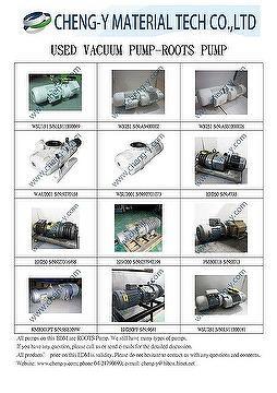 REFURBISHED ROOTS VACUUM PUMP, WSU151,WSU251,WAU1001,WAU2001,WSU2001,EH250,EH500,EH1200,EH4200,PMB001B,KMB301PT,
