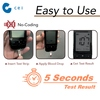 Handheld No Coding Blood Glucose Meter Kit 1000 Test Memory Smart Device with Strip