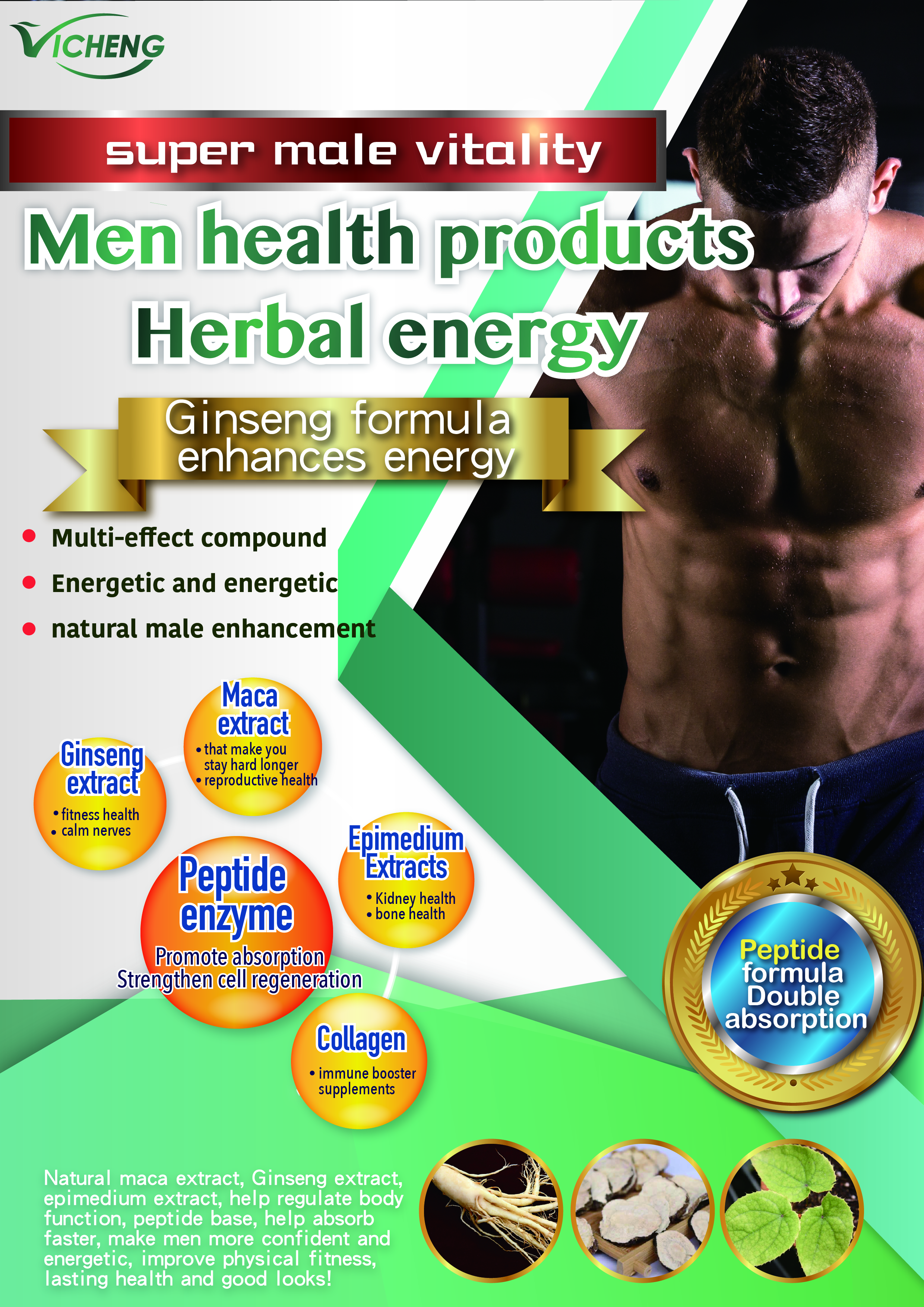 Men S Health Herbal Energy Ginseng Extract Taiwantrade Com