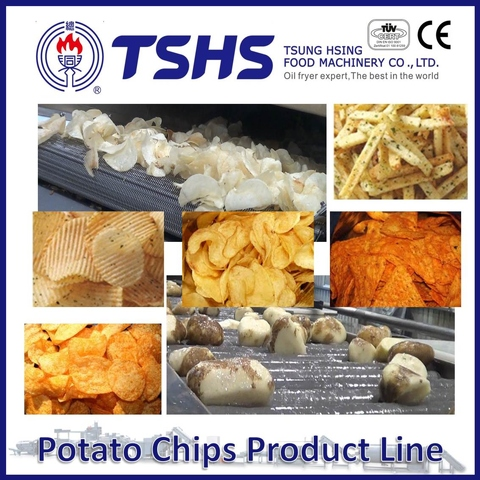 Made in Taiwan High Quality Brands  Potato Chips Maker Line