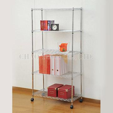 5 Layer Wire Rack With Mobile Castors
