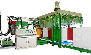 Automatic batch mixing machine with smart mold system