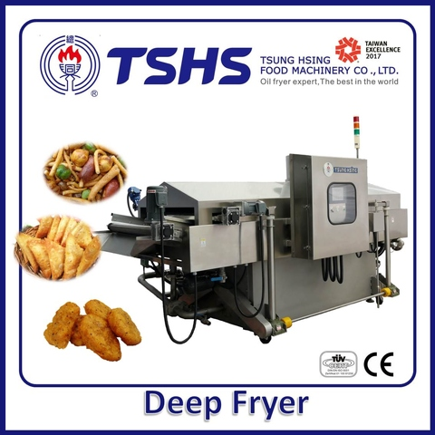 Industrial Continuous Stainless Steel Gralic Fryer