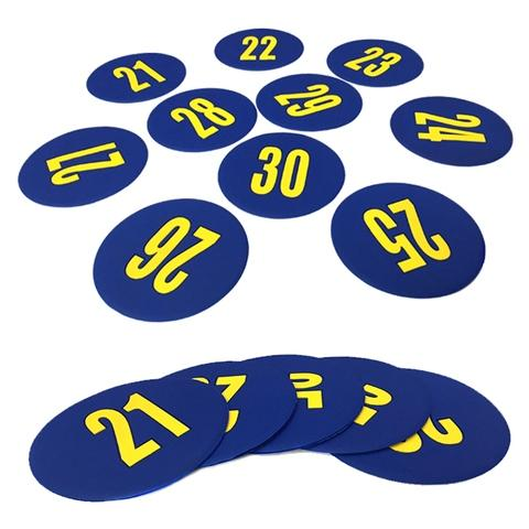 21-30 number round mark mat