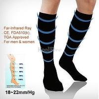 Far-Infrared Ray Compression Thin Knee High Stockings 18~22mm/Hg (1<br/>40D)