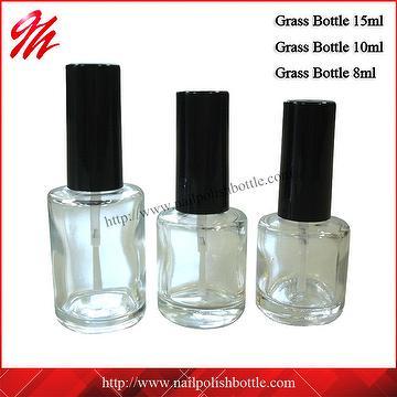 Taiwan 15ml, 10ml, 8ml Round Clear Glass Polish Bottles   GH PLASTIC ...