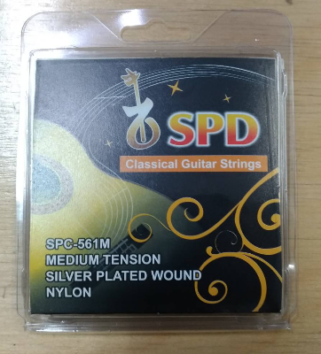 SPD Classical Guitar Strings, Silver Plated Wound