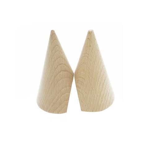 Plain Wood Base 180° Cut Cones