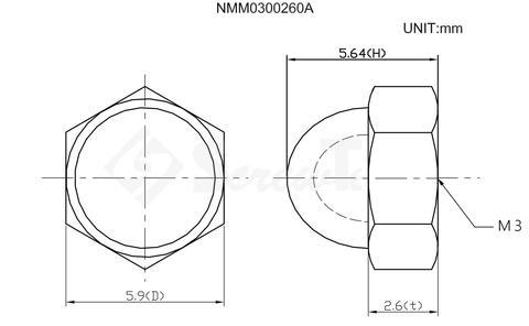 M3 Flexagon Domed Cap Nuts