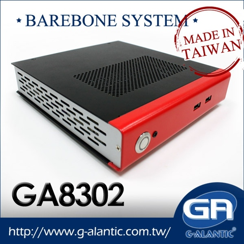 GA8302- Mini ITX Case Barebone System for Digital Signage