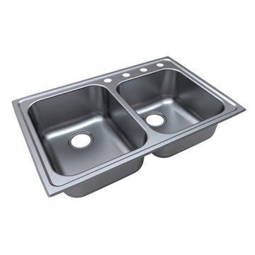 Stainless steel sinks with two bowls