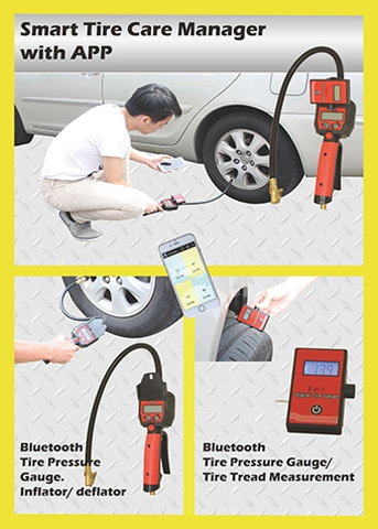 BLUETOOTH TIRE CARE MANAGER WITH APP