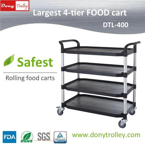 DTL-400 4 shelf food cart manufacturer 1000