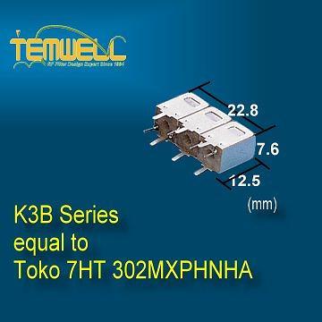 Helical Bandpass Filter -Toko type 7HT 302MXPHNHA Filter
