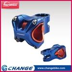 【CHANGE】Bicycle Stem S35BL Color:Blue - 2 in 1 Designed for 31.8 and 35mm bars